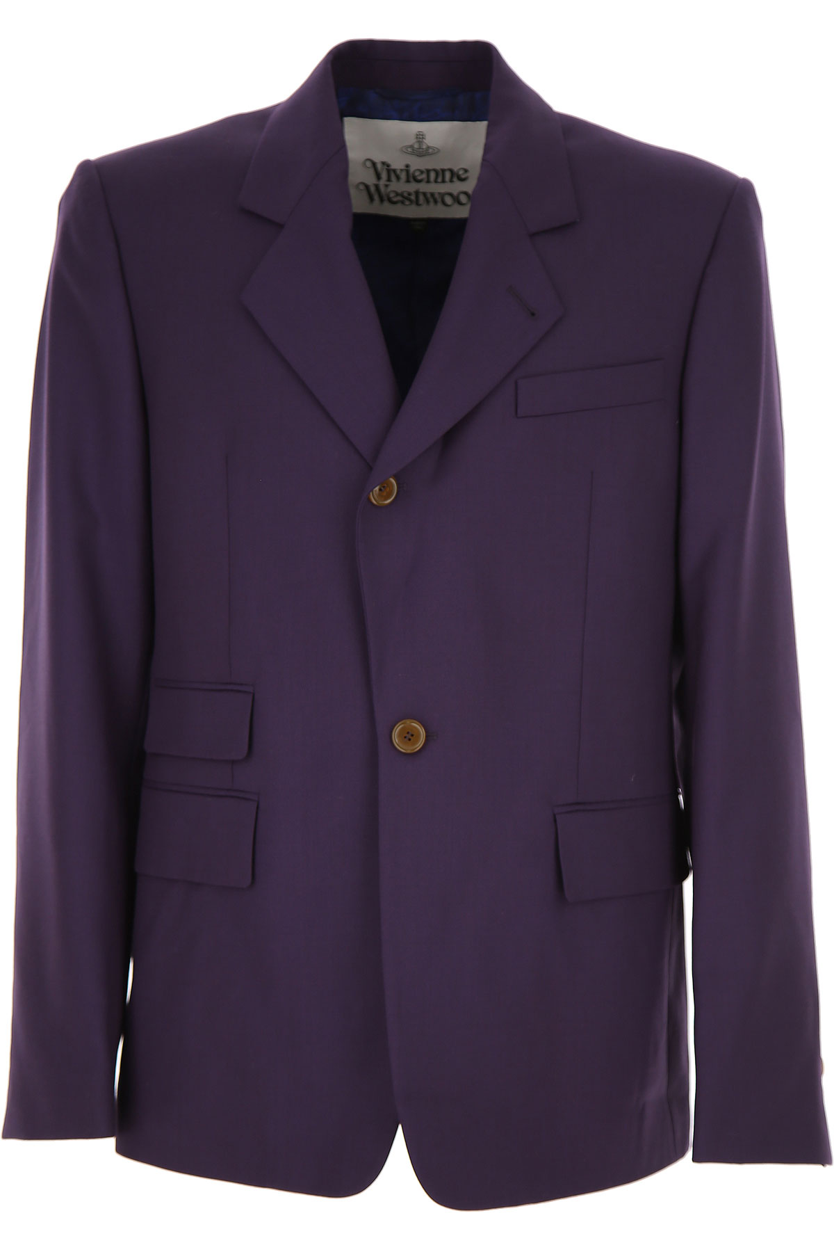 Vivienne Westwood Blazer for Men, Sport Coat, Blue Violet, Virgin wool, 2019, L XXL