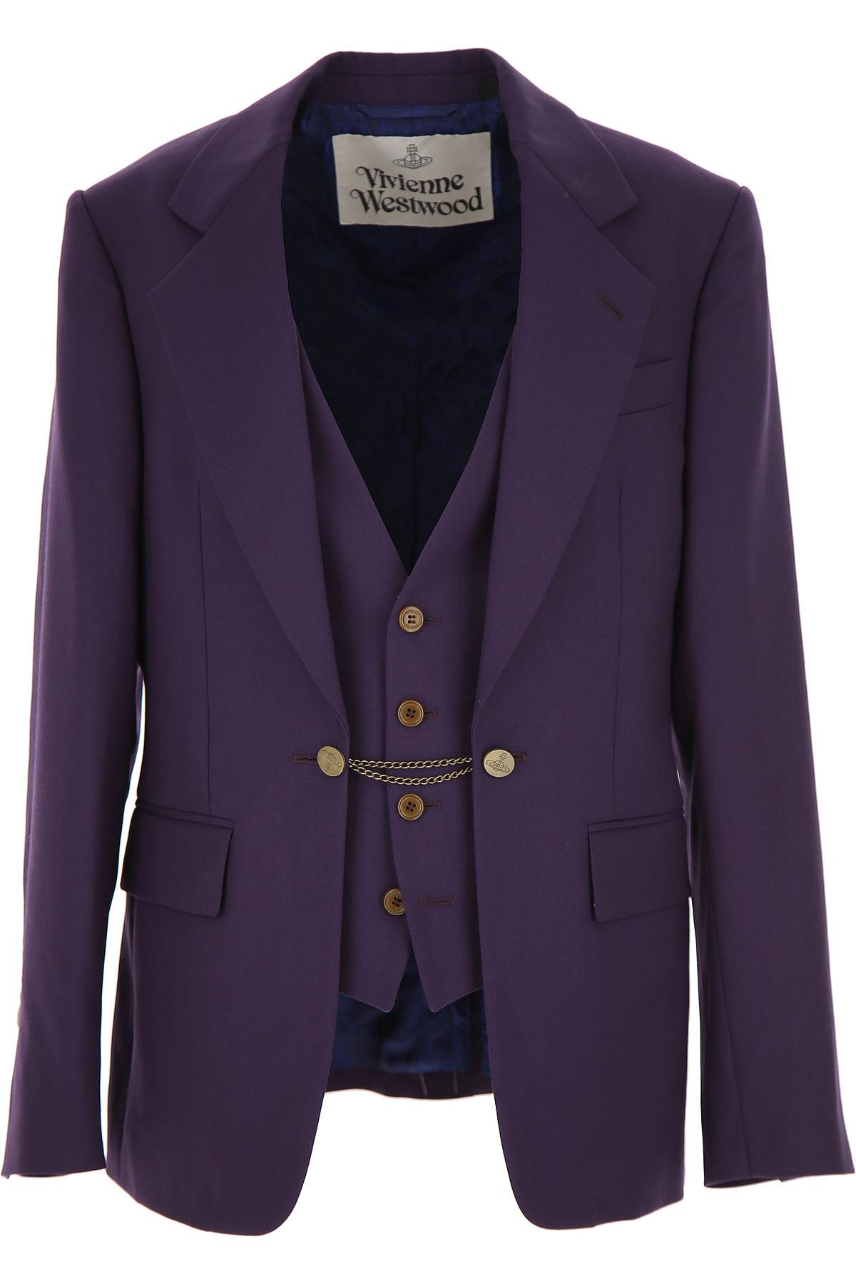 Vivienne Westwood Blazer for Men, Sport Coat, Navy Blue, Wool, 2019, M XXL