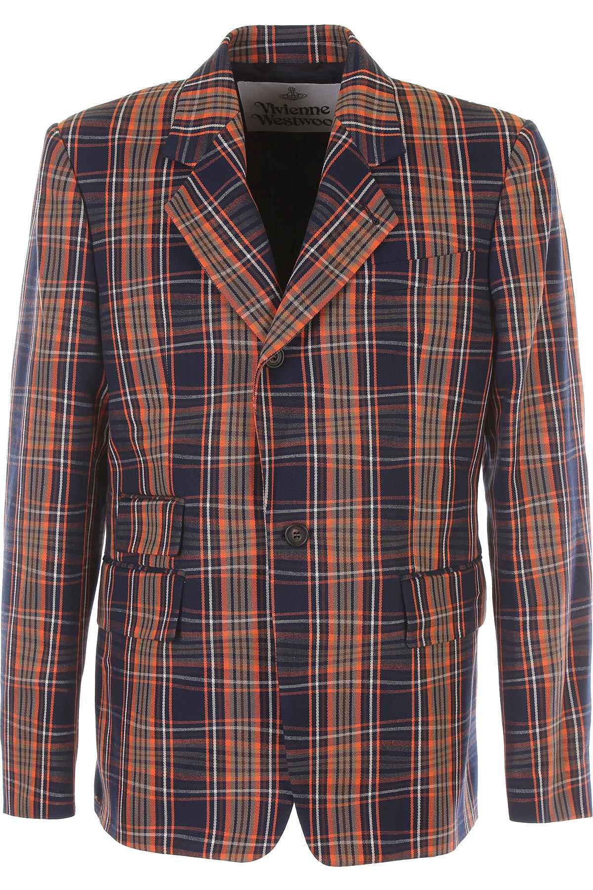 Vivienne Westwood Blazer for Men, Sport Coat On Sale, Denim Blue, Cotton, 2019, L M S XL