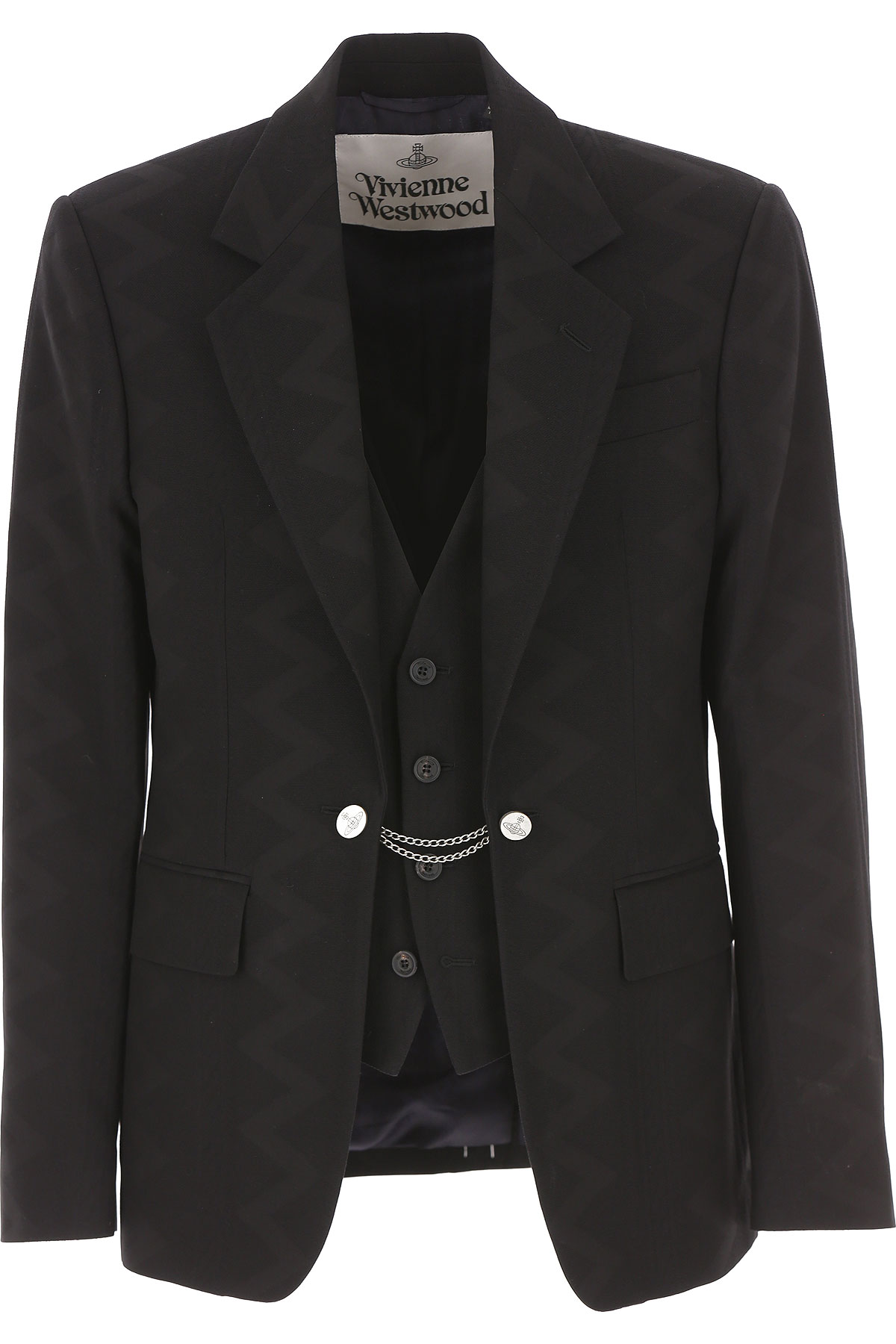 Vivienne Westwood Blazer for Men, Sport Coat On Sale, Black, Cotton, 2019, L XL