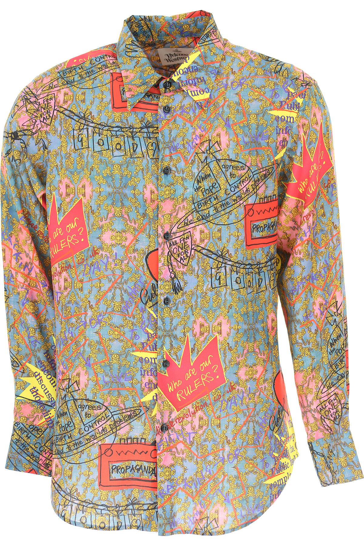 Vivienne Westwood Chemise Homme, Multicolore, Coton, 2017, L M M S S XL XL XXL