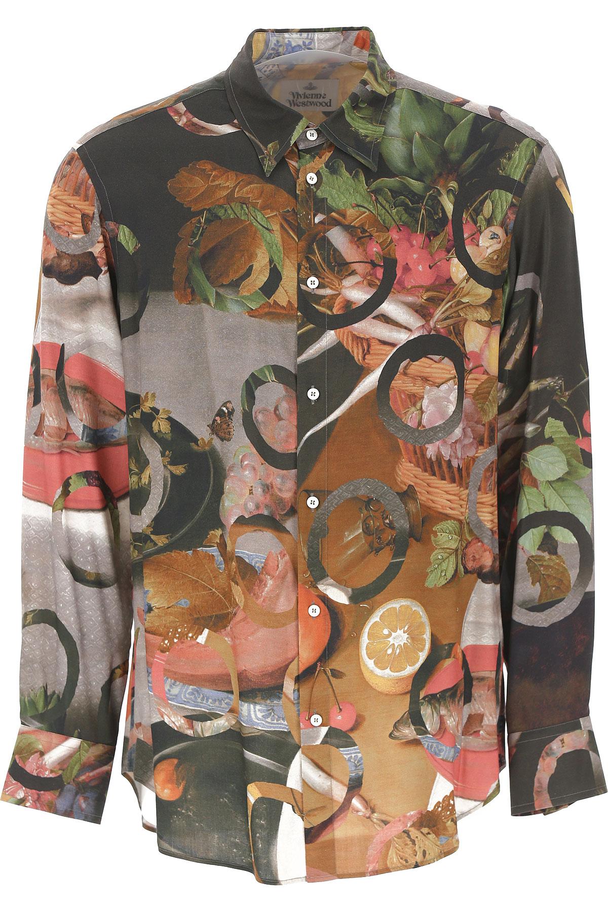 Vivienne Westwood Chemise Homme Pas cher en Soldes, Multicolore, Viscose, 2019, L XL