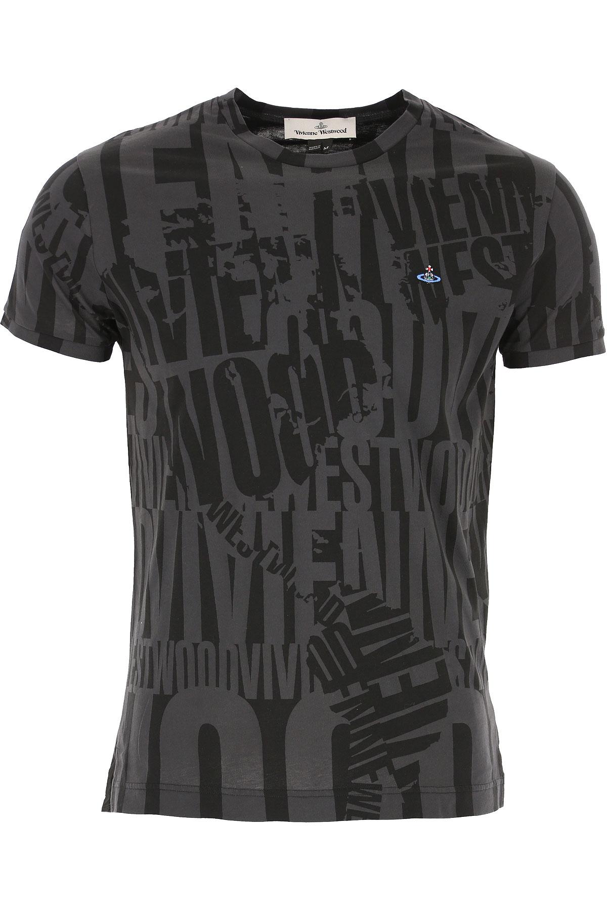 Vivienne Westwood T-shirt Homme Pas Cher En Soldes Outlet, Noir, Coton, 2019, L M S XS