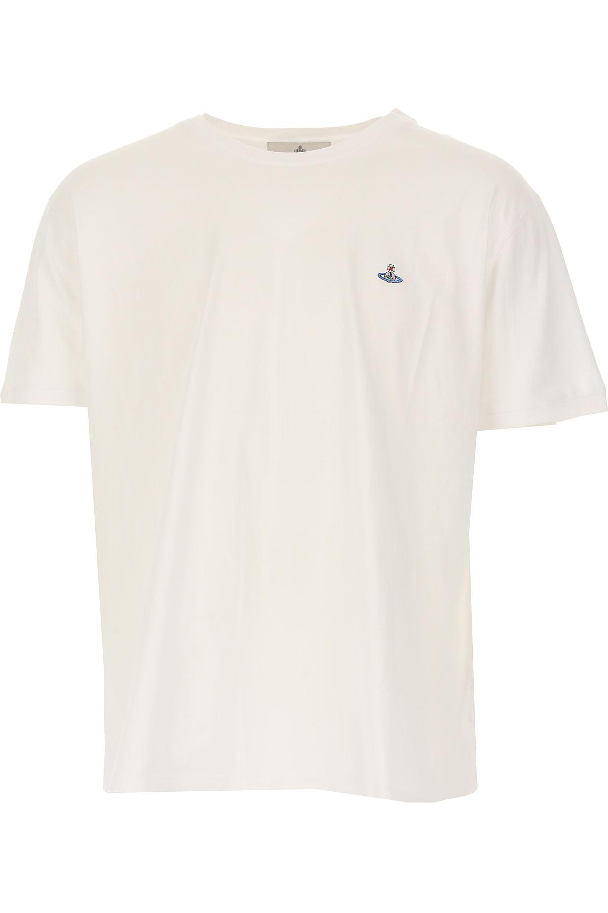 Vivienne Westwood T-shirt Homme Pas Cher En Soldes, Blanc, Coton, 2019, L M S XL XS