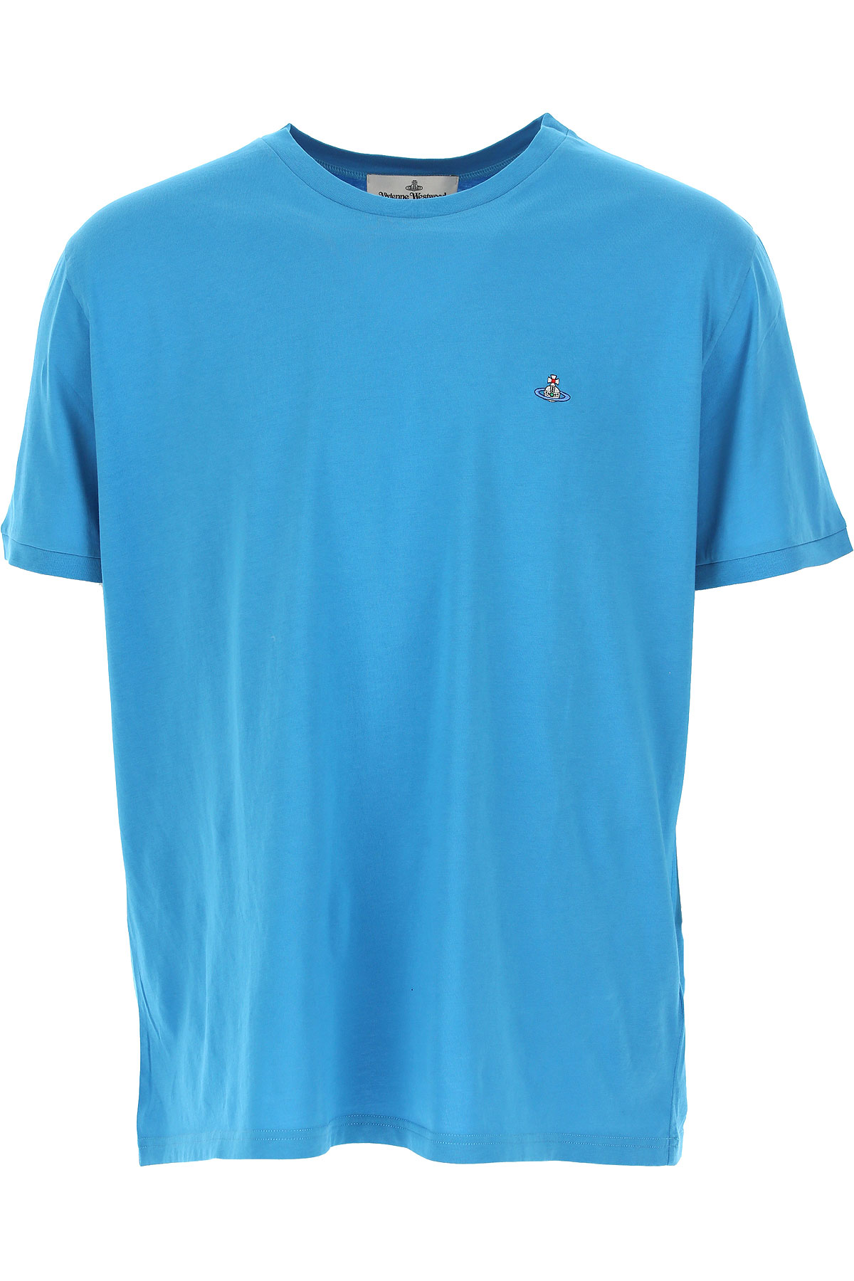 Vivienne Westwood T-shirt Homme Pas Cher En Soldes, Bleu Ciel, Coton, 2019, L M S XS