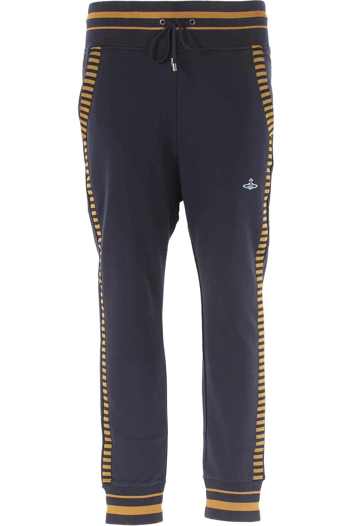 Vivienne Westwood Pantalon Homme Pas cher en Soldes Outlet, Bleu, Coton, 2017, S XXL