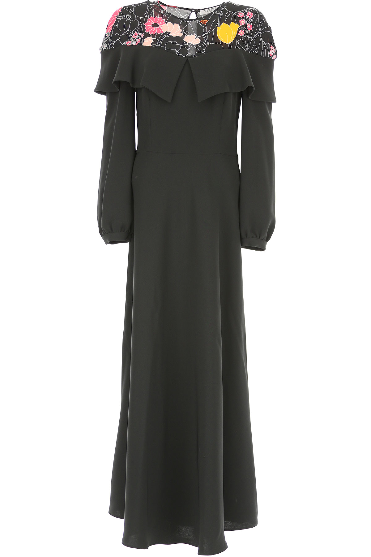 Image of Vivetta Dress for Women, Evening Cocktail Party, Black, polyester, 2017, 4 6 8
