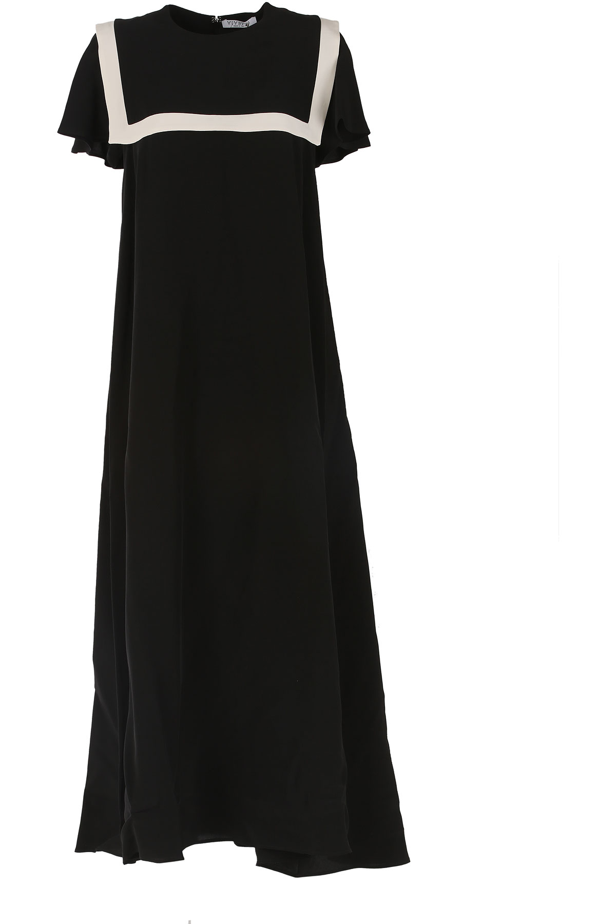 Image of Vivetta Dress for Women, Evening Cocktail Party On Sale, Black, Cotton, 2017, 4 6
