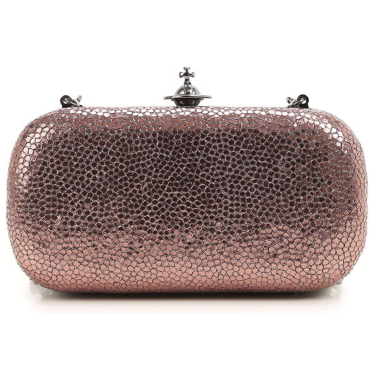 Vivienne Westwood Clutch Bag, Dark Burnt Pink, Leather, 2019