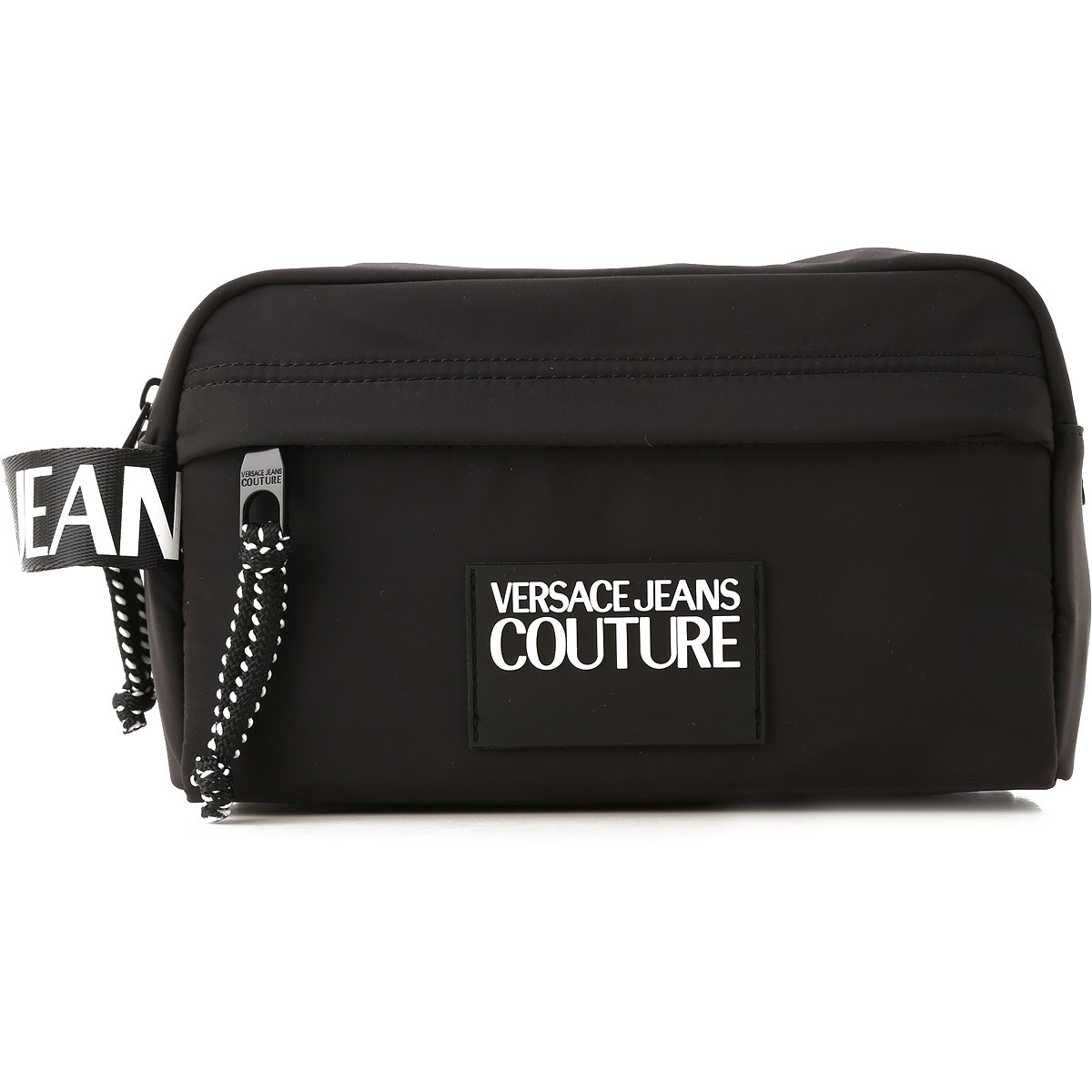 Versace Jeans Couture Toiletry Bag for Men On Sale, Black, Nylon, 2019
