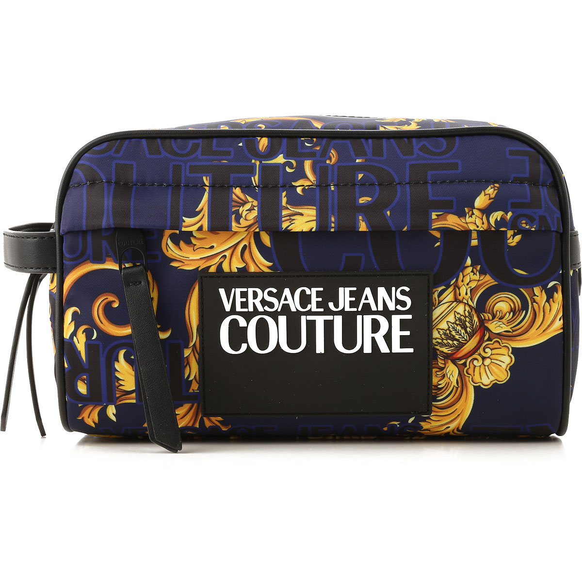 Versace Jeans Couture Toiletry Bag for Men On Sale, Blue, Nylon, 2019