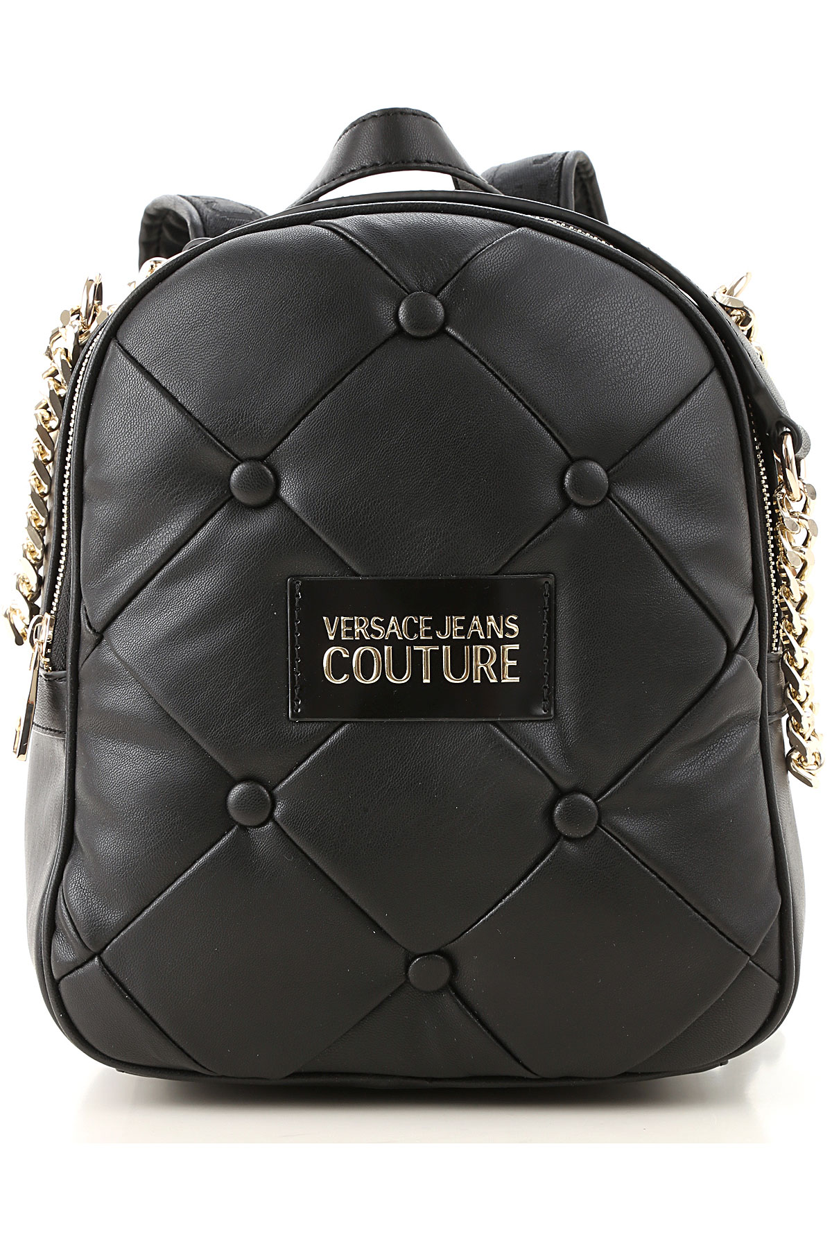 Versace Jeans Couture Backpack for Women On Sale, Black, polyestere, 2019