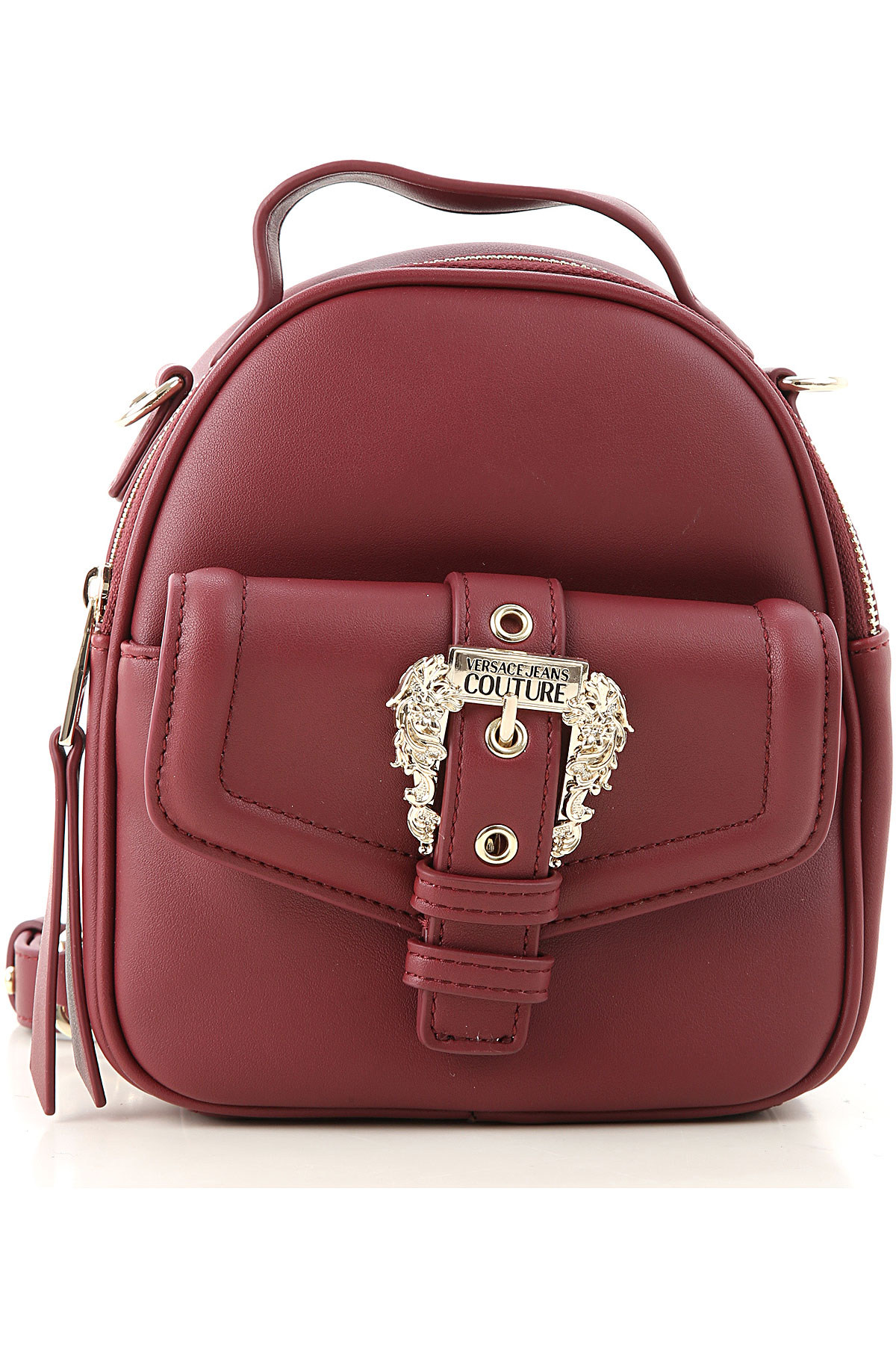 Versace Jeans Couture Backpack for Women On Sale, Bordeaux, Leather, 2019