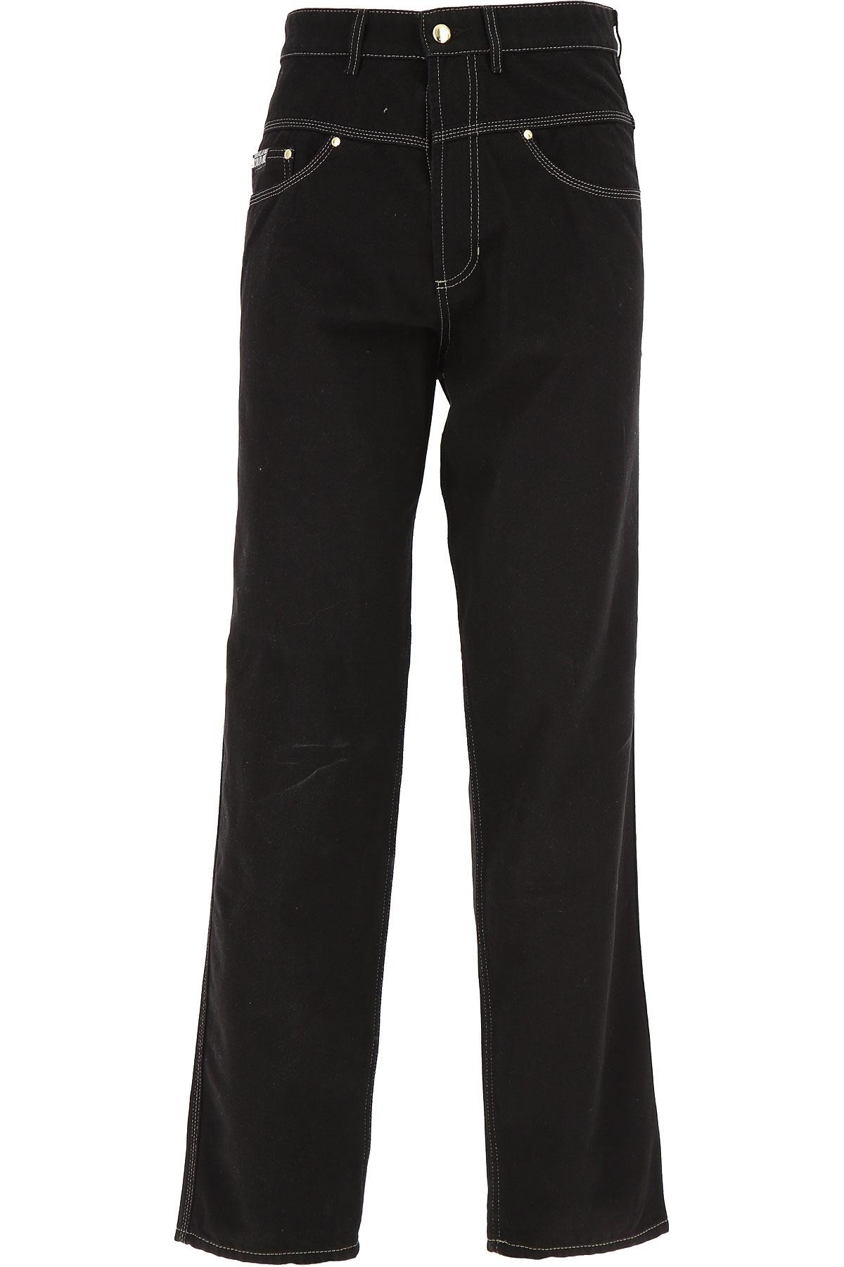 Versace Jeans Couture Jeans On Sale, Black, Cotton, 2019, 29 30 31 32 33 34