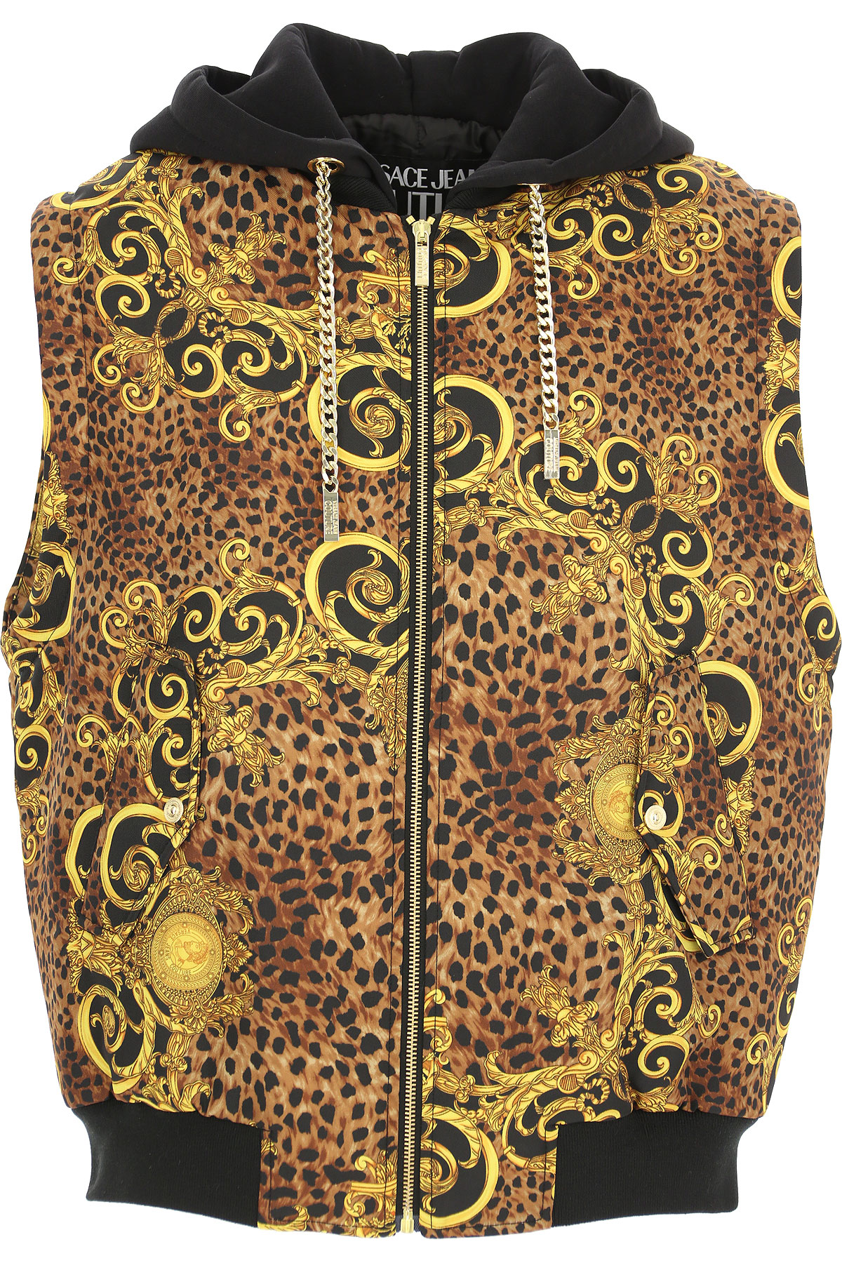 Versace Jeans Couture Jacket for Men On Sale, Leopard Brown, polyester, 2019, L S XL