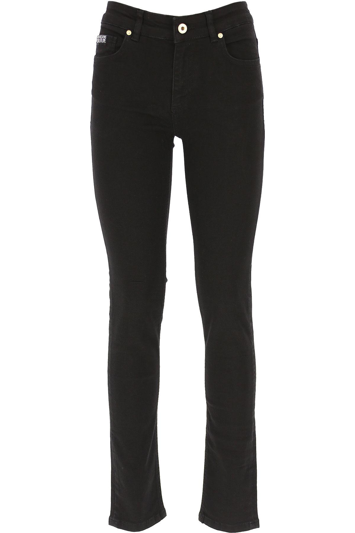 Versace Jeans Couture Jeans On Sale, Black, Cotton, 2019, 25 26 28 29 30 32