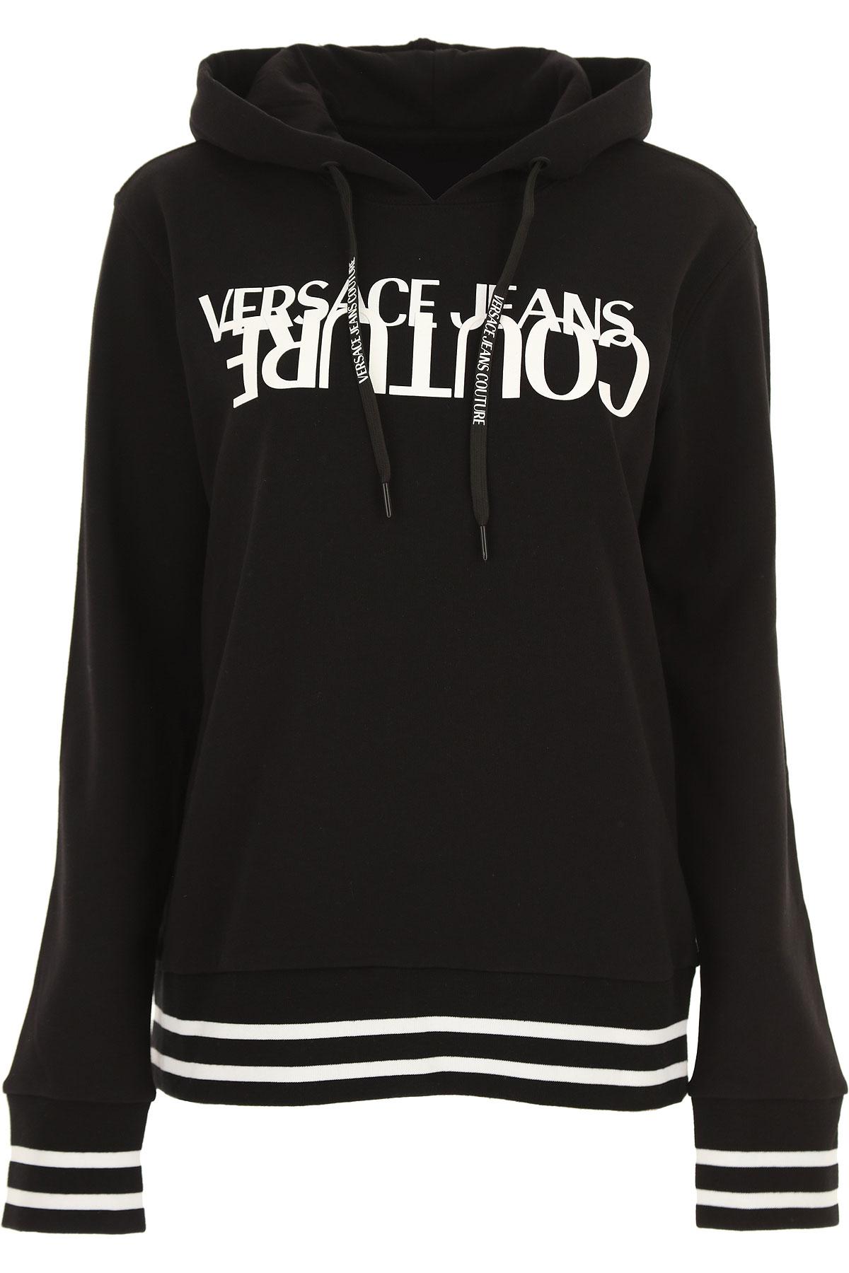 Versace Jeans Couture Sweatshirt for Women Pas cher en Soldes, Noir, Coton, 2019, 40 44 M