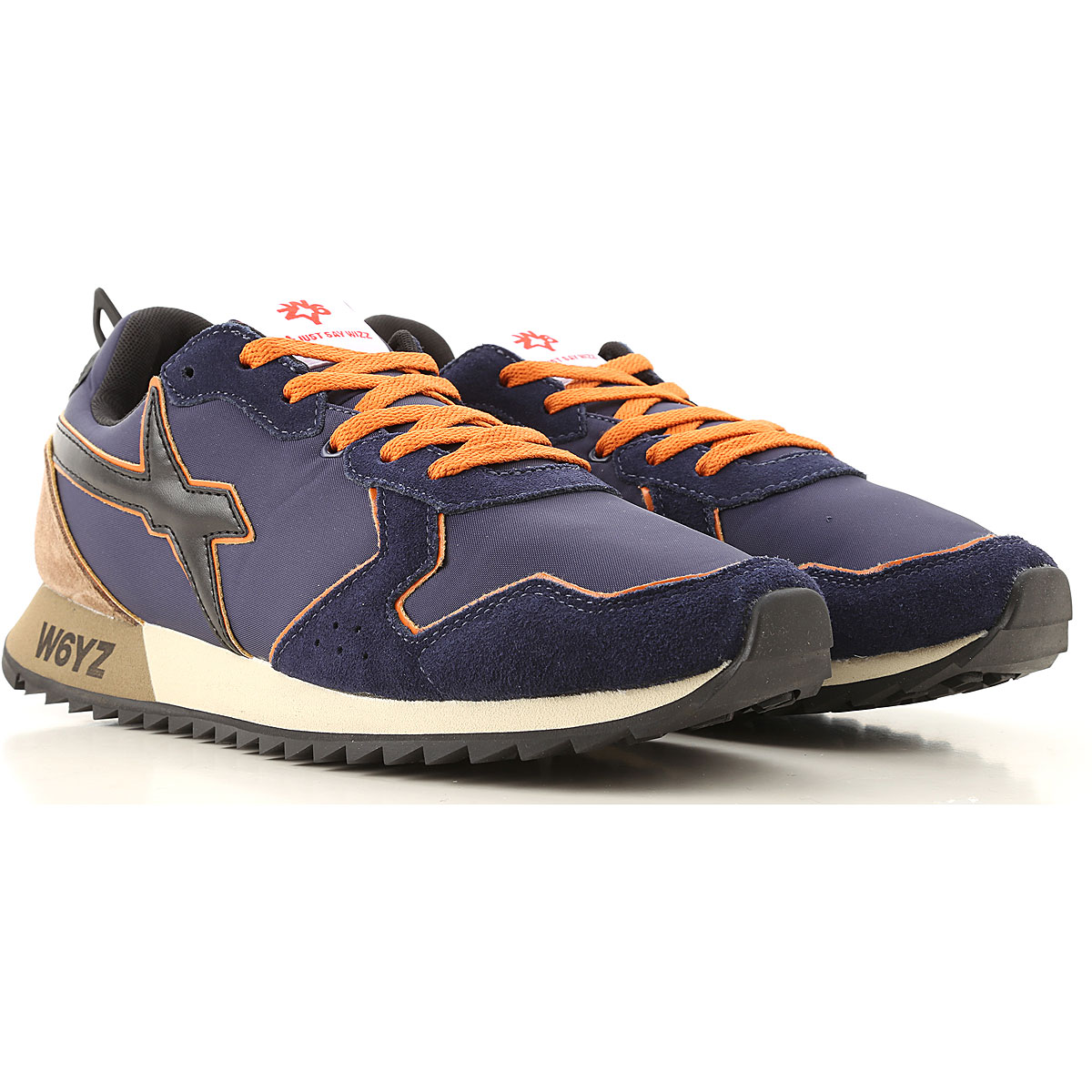 W6YZ Sneakers for Men On Sale, Blue, Leather, 2019, 10 10.5 11.5 9