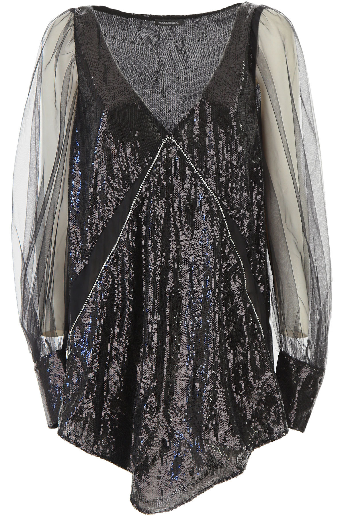 Image of Wandering Dress for Women, Evening Cocktail Party, Black, polyester, 2017, 4 6