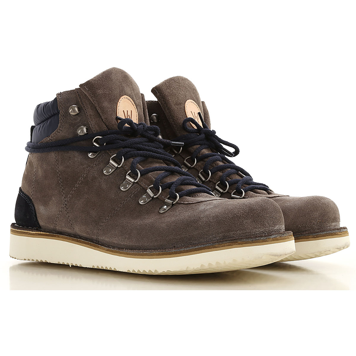 Wally Walker Boots for Men, Booties On Sale, Lead, Suede leather, 2019, 7.5 8 9
