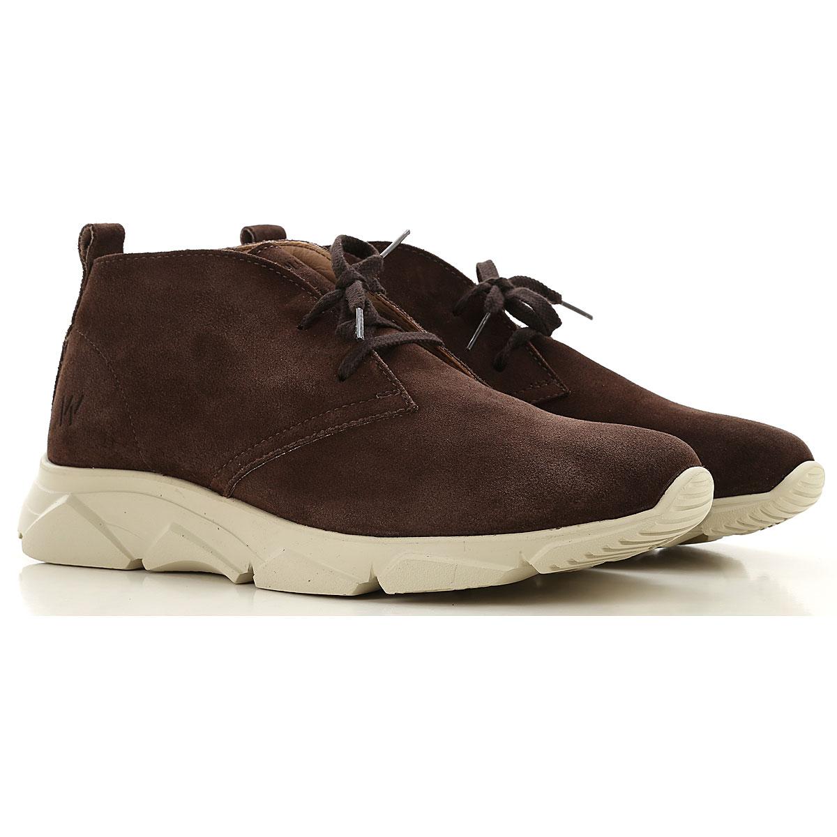 Wally Walker Desert Boots Chukka for Men On Sale, Dark Chestnut, Suede leather, 2019, 10 7.5