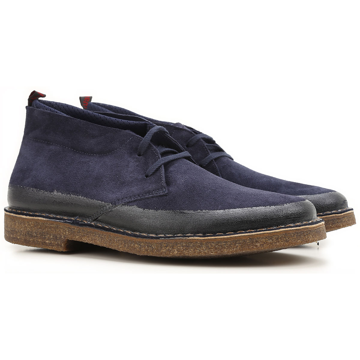 Image of Wally Walker Boots for Men, Booties, Dark Blue, Suede leather, 2017, 10 7.5 8 9