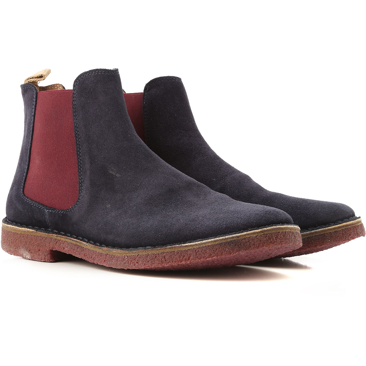 Wally Walker Boots for Men, Booties On Sale in Outlet, dark Navy, Suede leather, 2019, 10 10.5