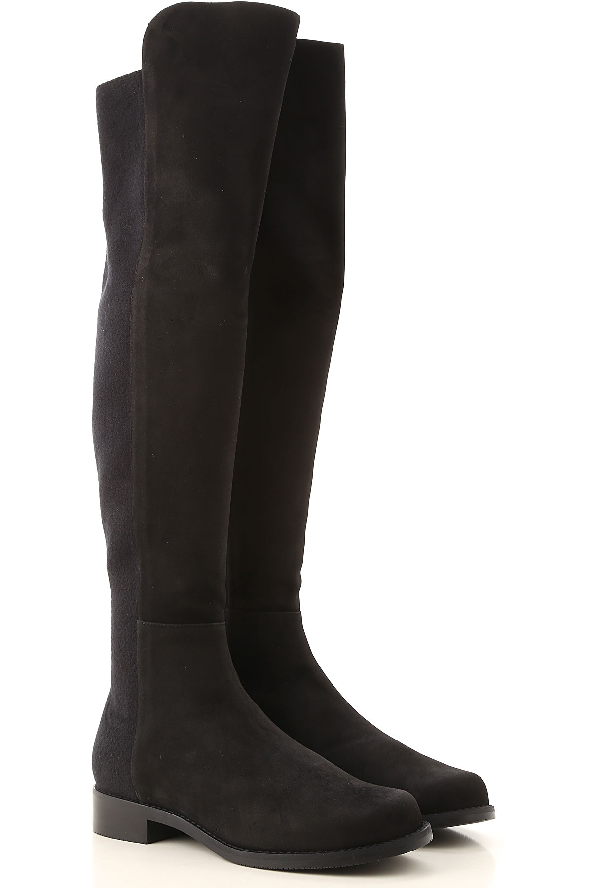 Stuart Weitzman Boots for Women, Booties On Sale, Black, Suede leather, 2019, US 5 (EU 35.5) US 5.5 (EU 36) US 6 (EU 36.5) US 7 (EU 37.5) US 6.5 (EU 3