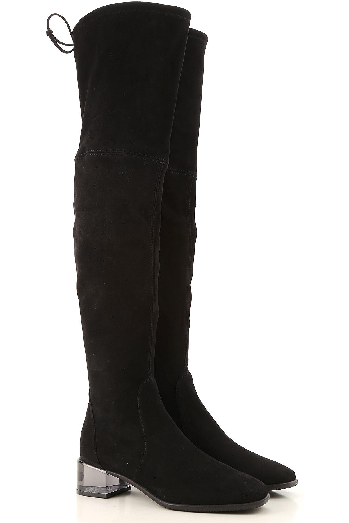 Stuart Weitzman Boots for Women, Booties On Sale, Black, Suede leather, 2019, US 5.5 (EU 36) US 6.5 (EU 37) US 7.5 (EU 38) US 9.5 (EU 40)