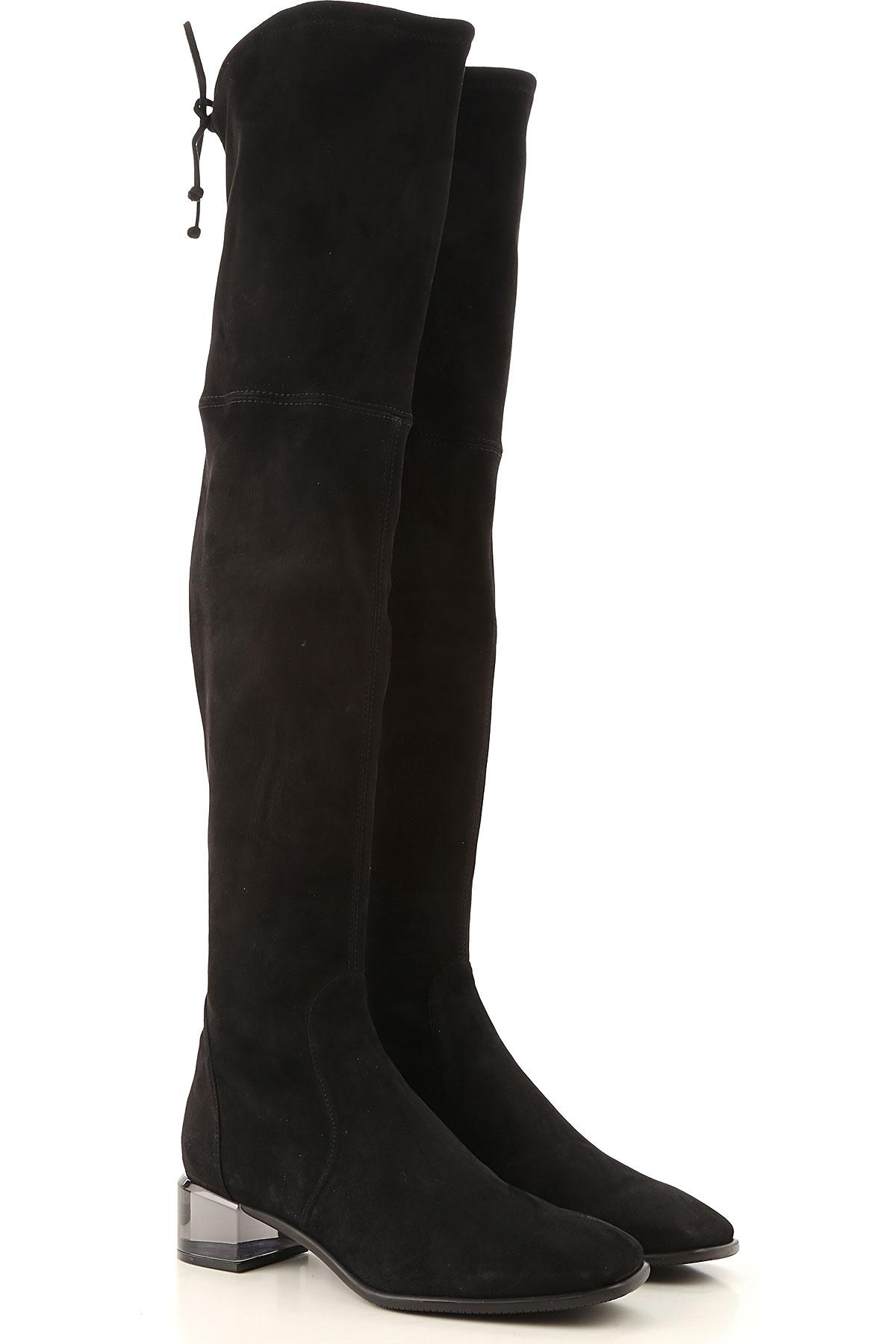 Stuart Weitzman Boots for Women, Booties On Sale, Black, Suede leather, 2019, US 4.5 ( EU 35) US 5 (EU 35.5) US 5.5 (EU 36) US 6 (EU 36.5) US 7 (EU 37
