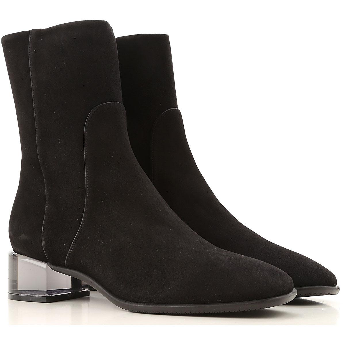 Stuart Weitzman Boots for Women, Booties On Sale, Black, Suede leather, 2019, US 4.5 ( EU 35) US 5.5 (EU 36) US 6.5 (EU 37) US 7.5 (EU 38) US 8.5 (E