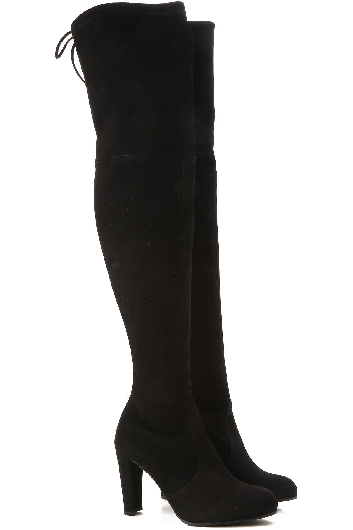 Stuart Weitzman Boots for Women, Booties On Sale, Black, suede, 2019, US 4.5 ( EU 35) US 5 (EU 35.5) US 5.5 (EU 36) US 6 (EU 36.5) US 7.5 (EU 38)