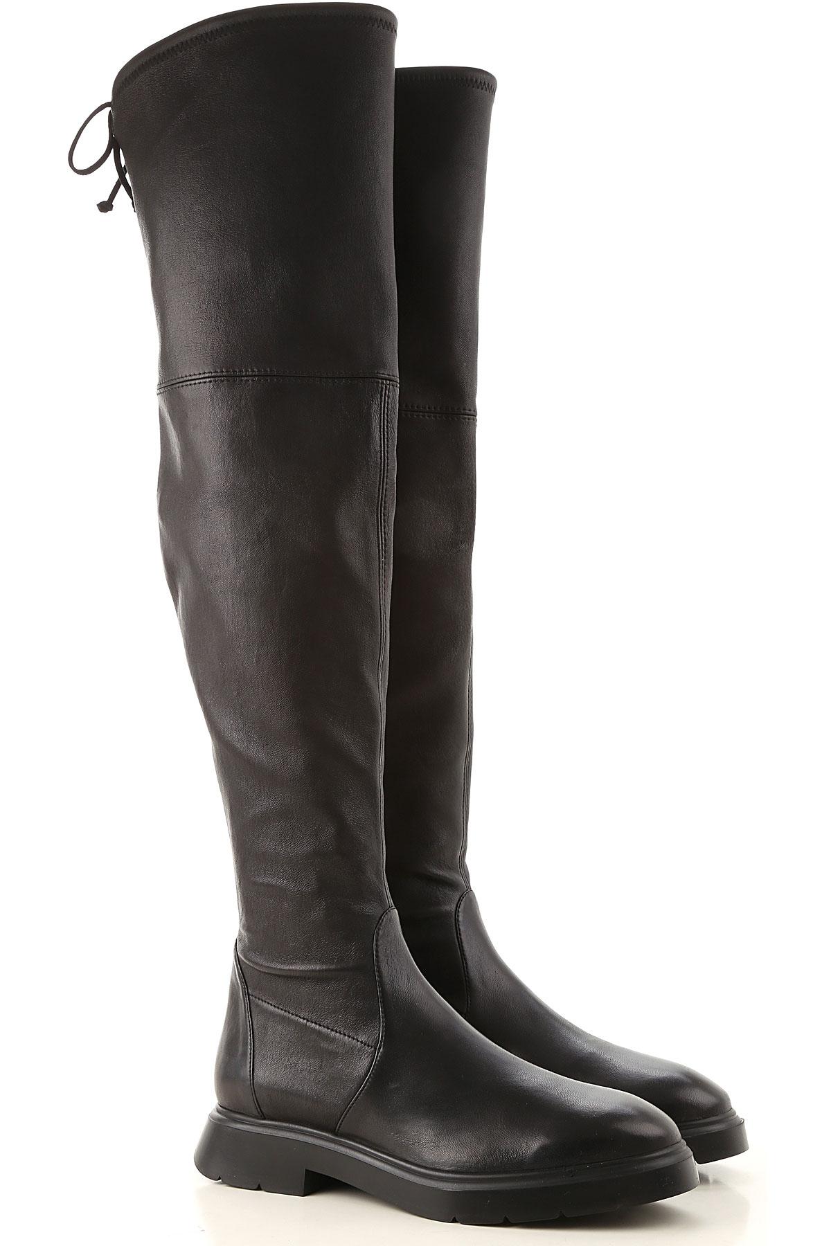 Stuart Weitzman Boots for Women, Booties On Sale, Black, Leather, 2019, US 6.5 (EU 37) US 8.5 (EU 39)