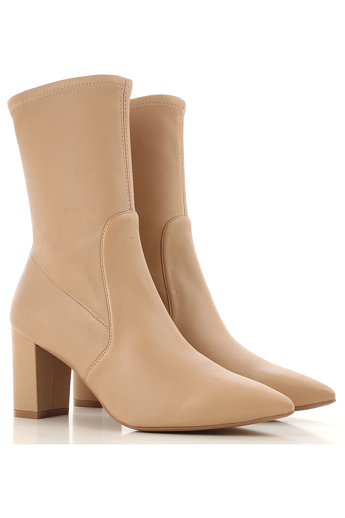 Stuart Weitzman Boots for Women, Booties On Sale, Adobe, Leather, 2019, 10