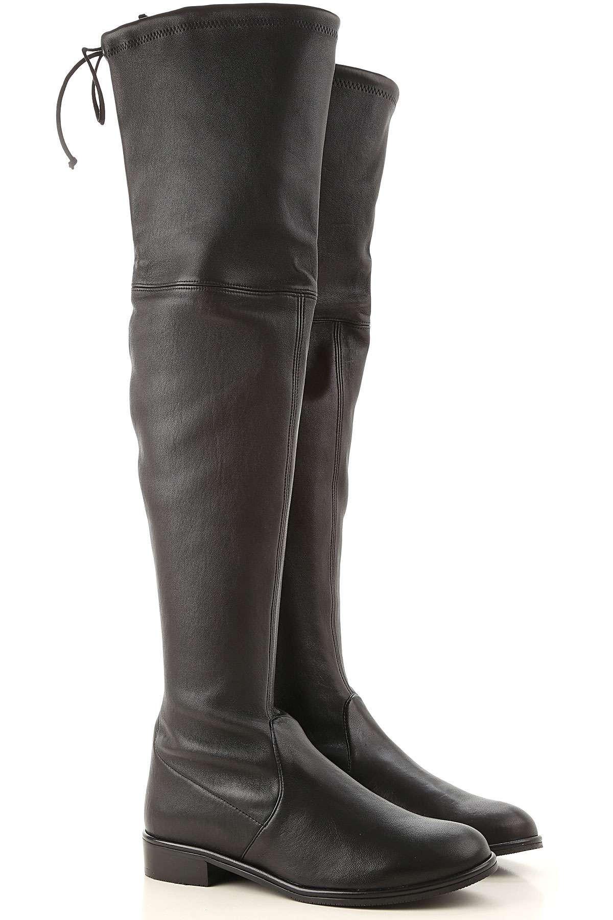 Stuart Weitzman Boots for Women, Booties On Sale, Black, Leather, 2019, US 5.5 (EU 36) US 6 (EU 36.5) US 7 (EU 37.5) US 6.5 (EU 37)