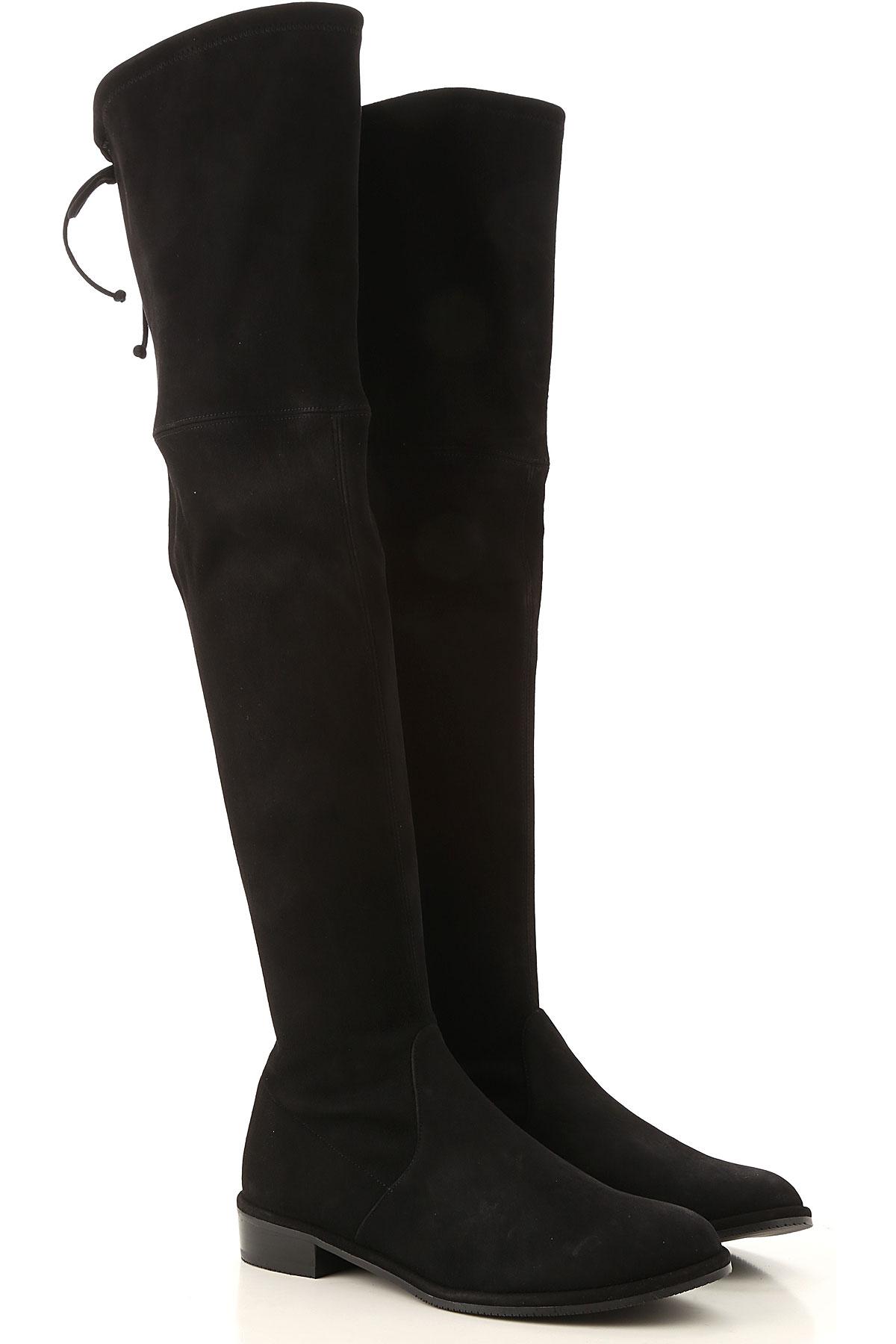 Stuart Weitzman Boots for Women, Booties On Sale, Black, Suede leather, 2019, US 4.5 ( EU 35) US 5.5 (EU 36) US 6.5 (EU 37) US 9.5 (EU 40)