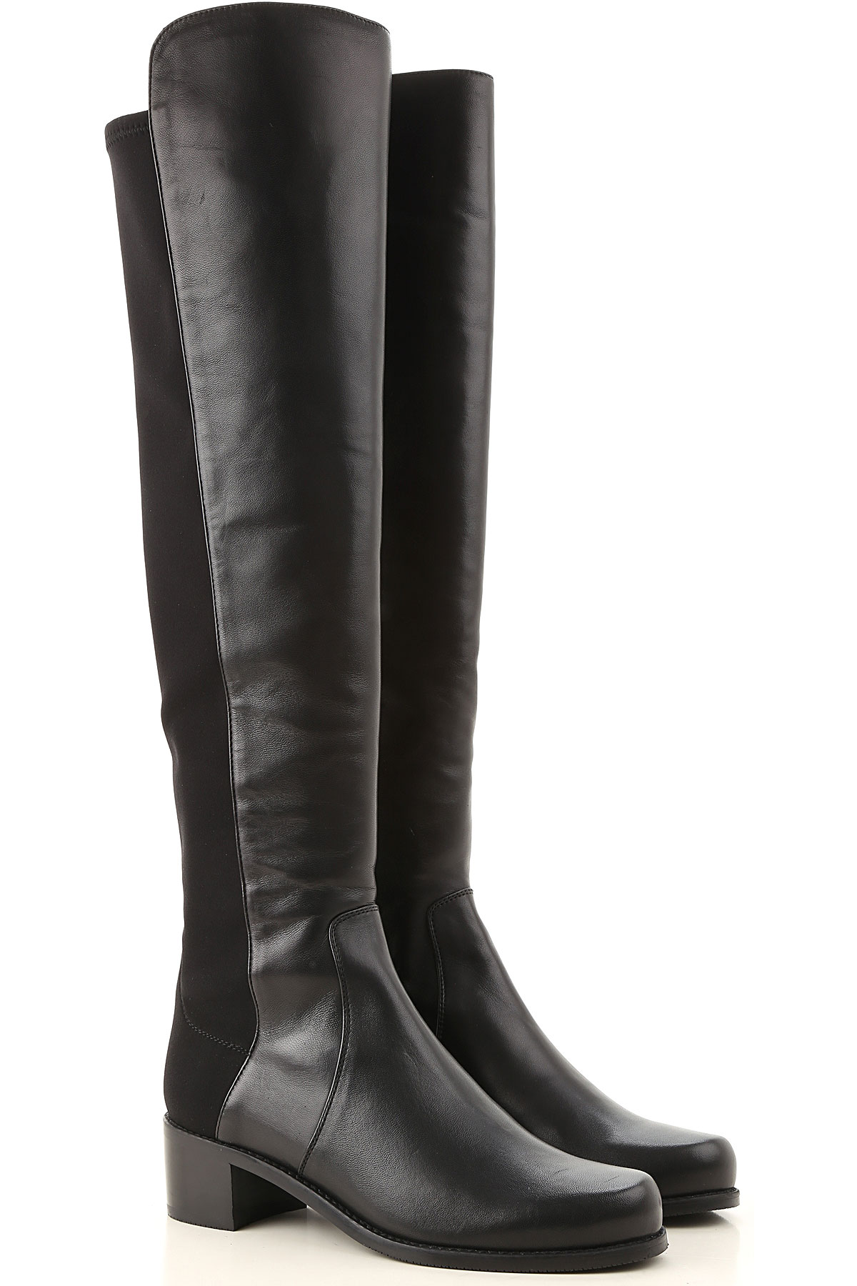 Stuart Weitzman Boots for Women, Booties, Black, Leather, 2019, US 7.5 (EU 38) US 8.5 (EU 39)