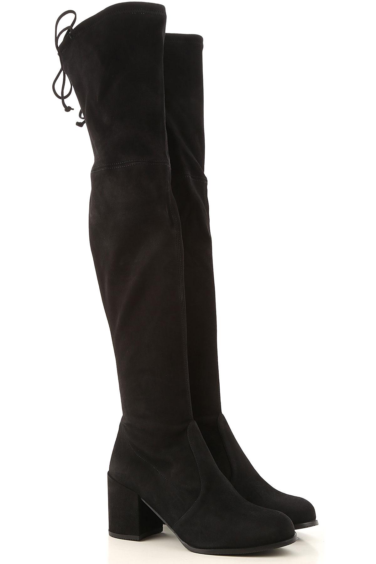 Stuart Weitzman Boots for Women, Booties On Sale, Black, Suede leather, 2019, US 4.5 ( EU 35) US 6.5 (EU 37) US 7.5 (EU 38) US 8.5 (EU 39)