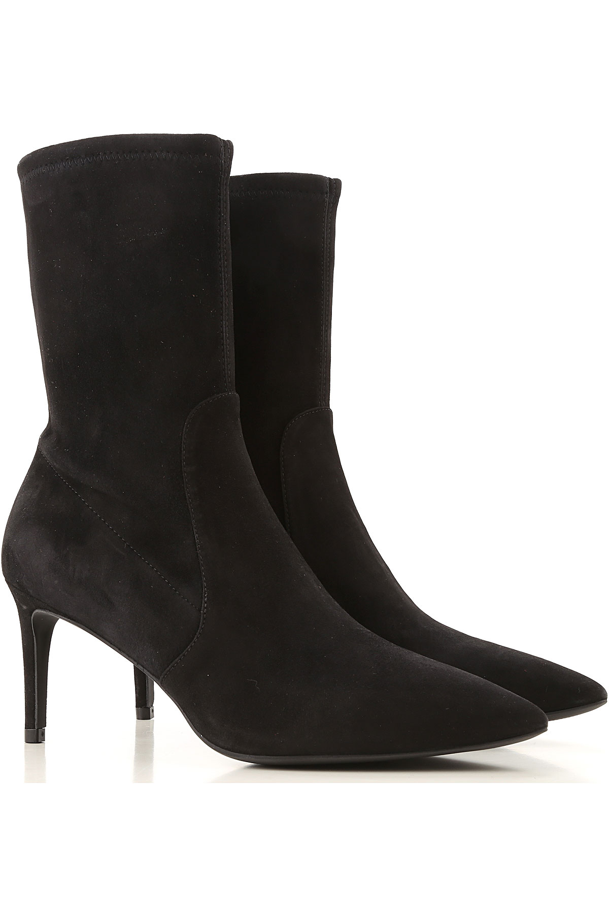 Stuart Weitzman Boots for Women, Booties On Sale, Black, Suede leather, 2019, US 5.5 (EU 36)