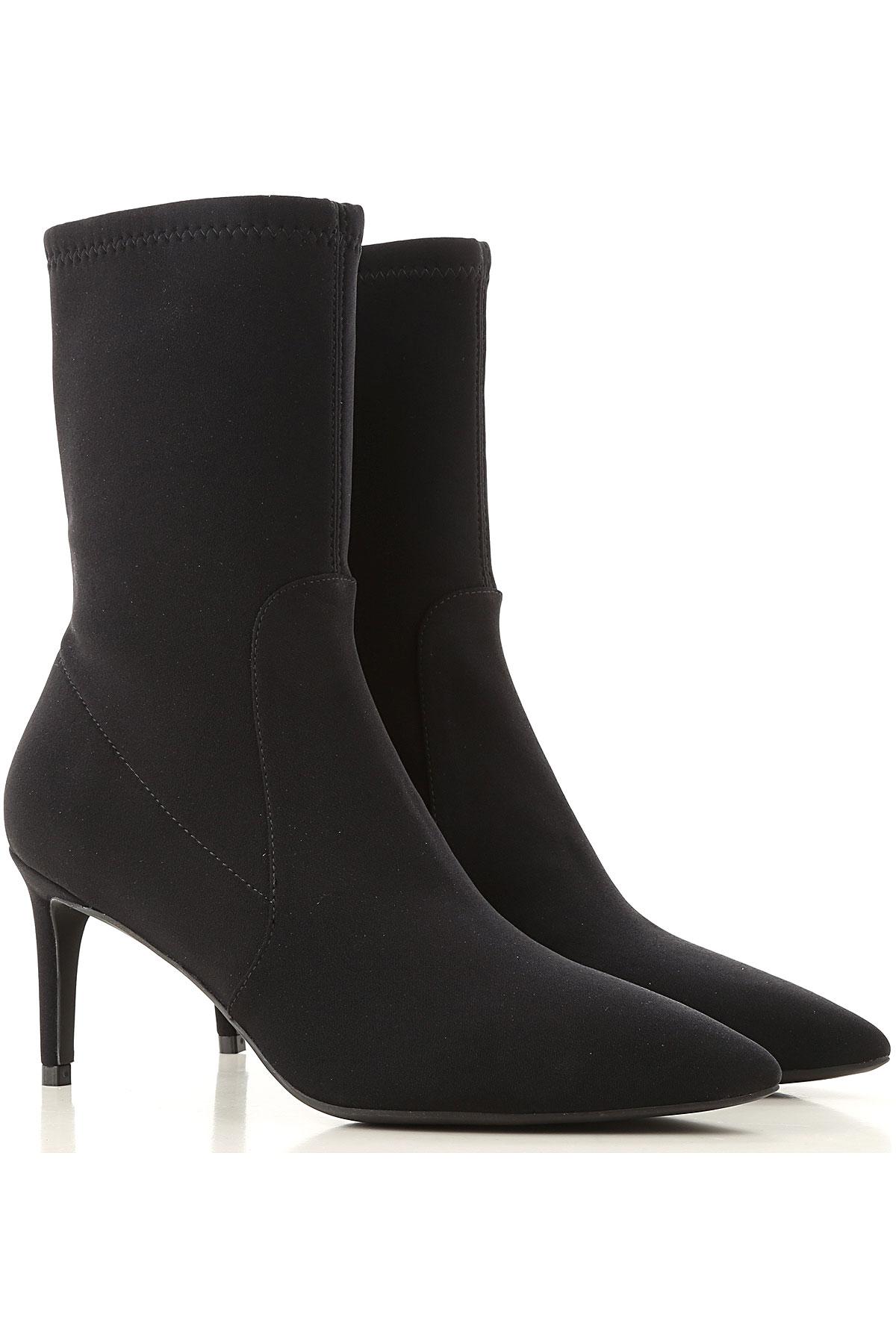 Stuart Weitzman Boots for Women, Booties On Sale, Black, Fabric, 2019, US 8 (EU 38.5)