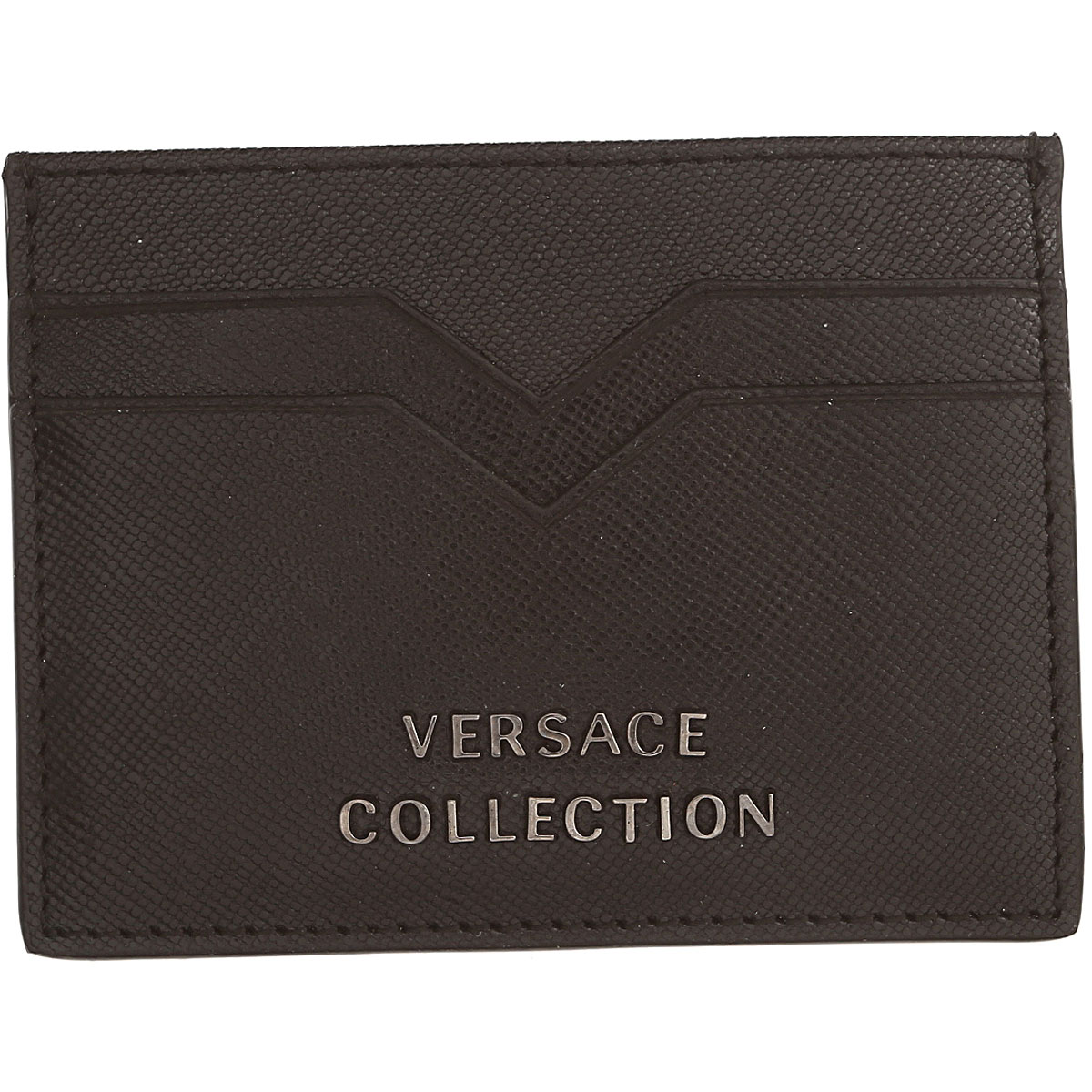 Image of Gianni Versace Card Holder for Men, Black, Leather, 2017