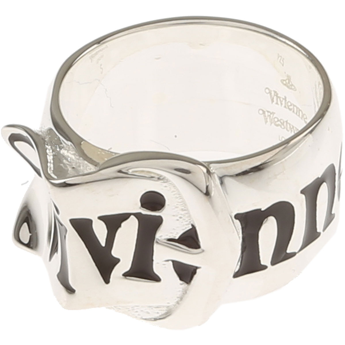 Image of Vivienne Westwood Ring for Men, Silver, Silver, 2017, Small Medium Large