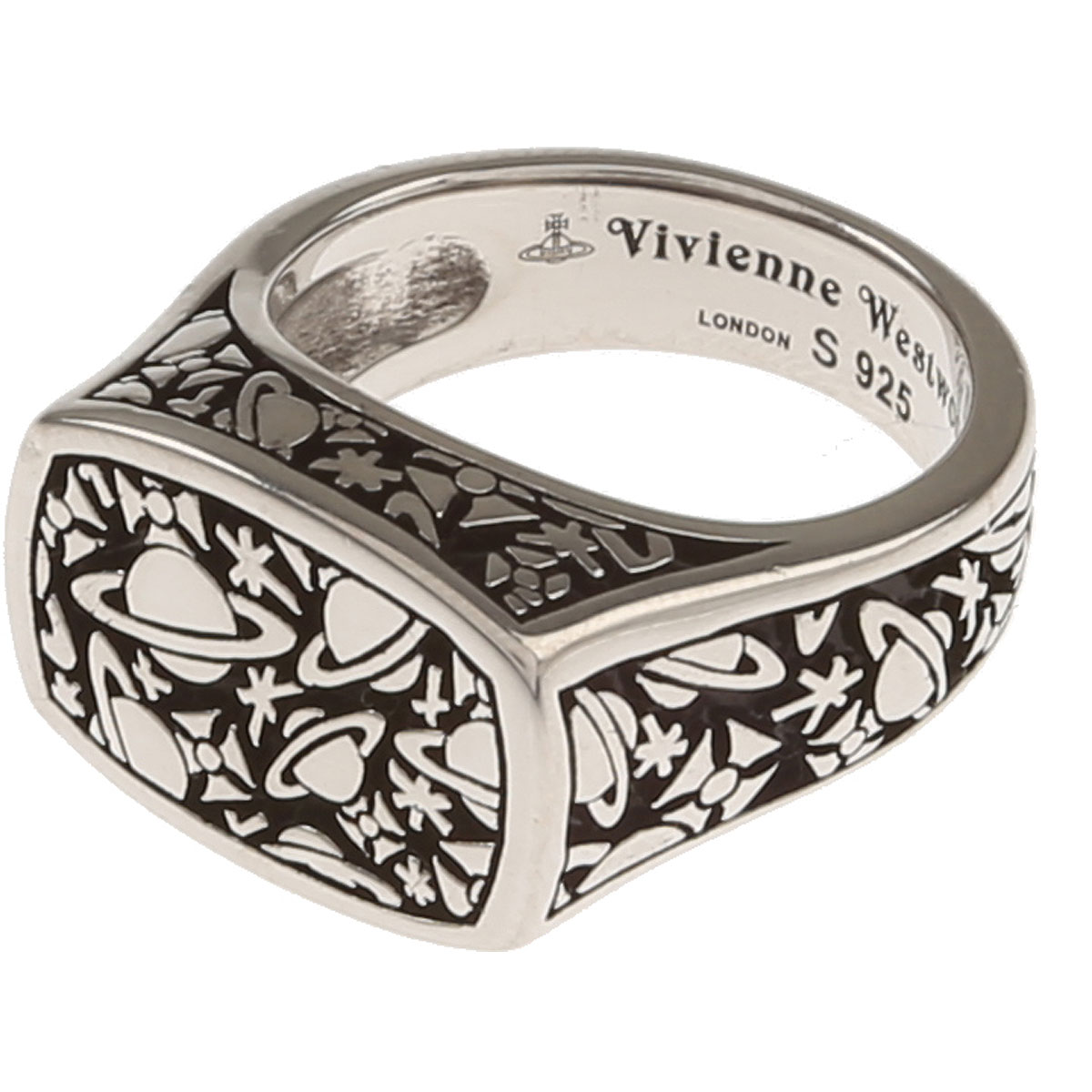 Image of Vivienne Westwood Ring for Men, Silver, Sterling Silver, 2017, Small Medium Large