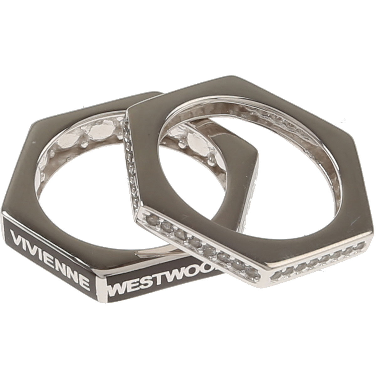 Image of Vivienne Westwood Ring for Men, Silver, Rhodium, 2017, Medium Large X-Large