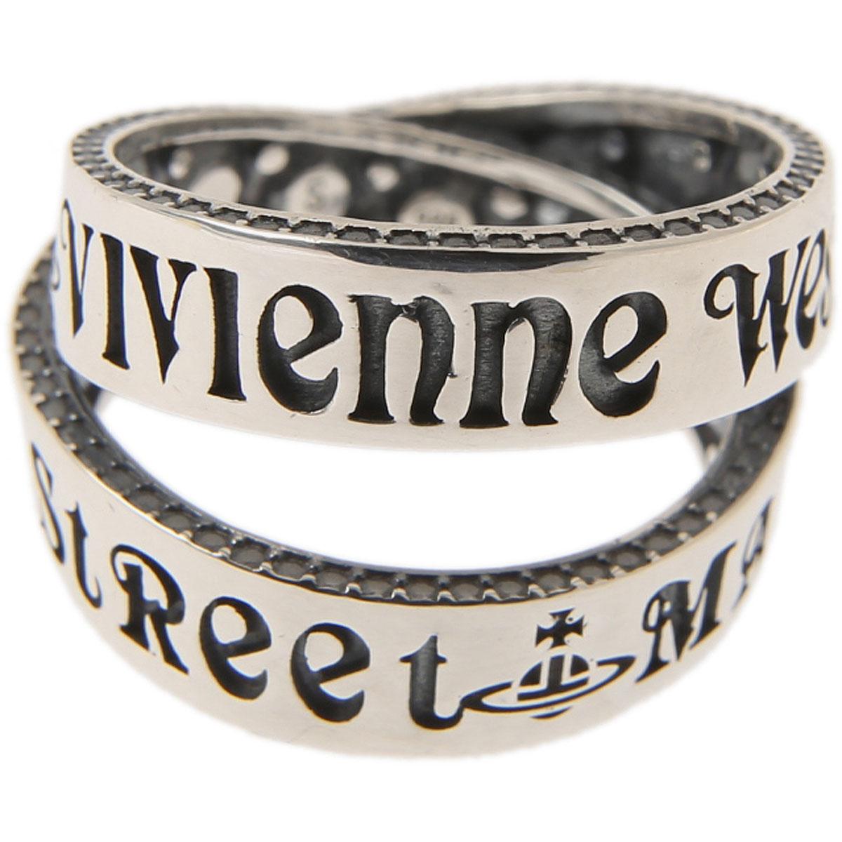 Vivienne Westwood Bague Femme, Argent, Argent Oxydé, 2017, L M