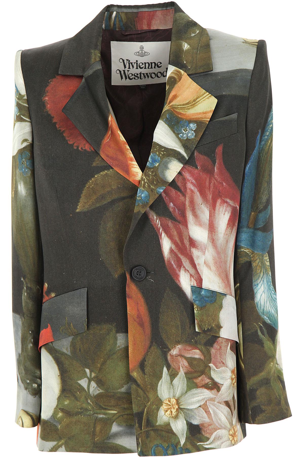 Vivienne Westwood Blazer for Women On Sale, Multicolor, Viscose, 2019, 4 6