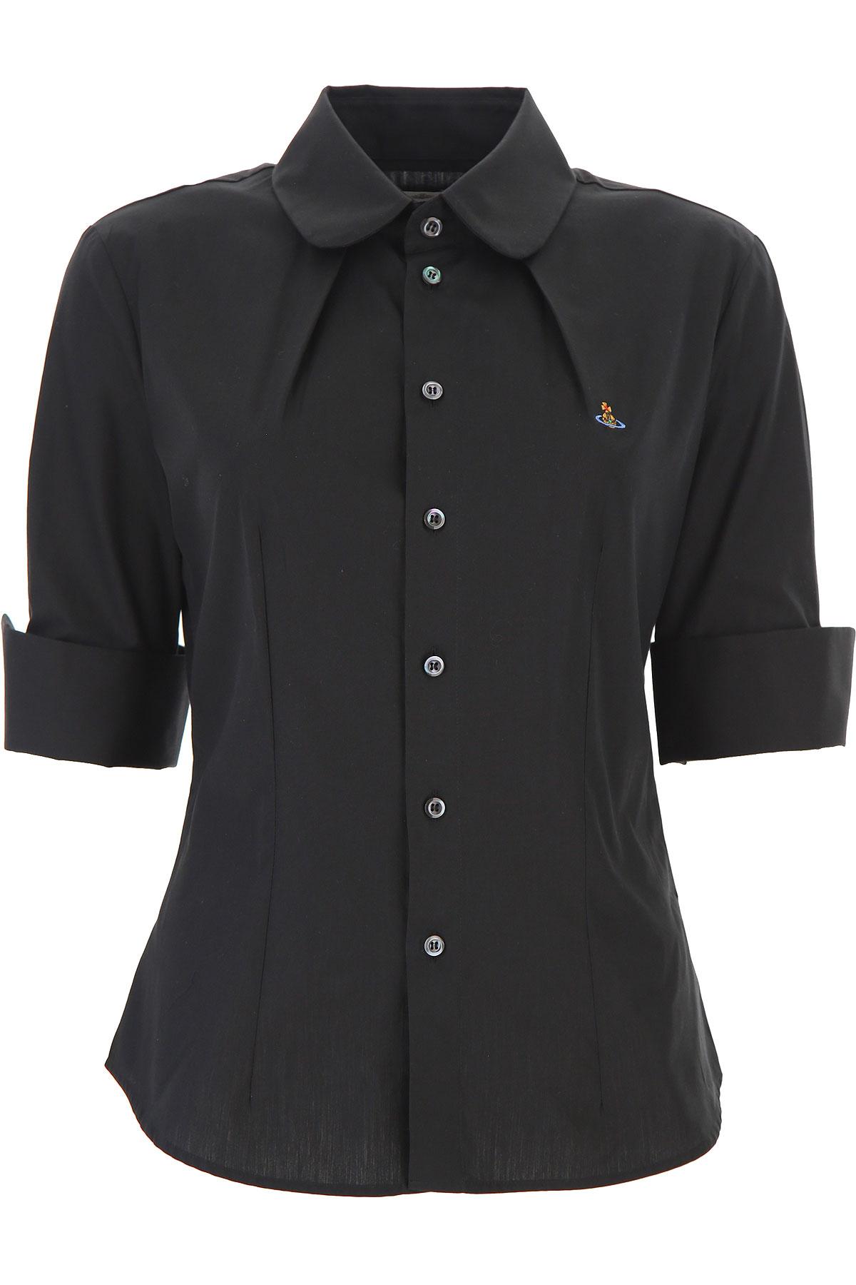 Vivienne Westwood Chemise Femme, Noir, Coton, 2017, 40 44 46 M