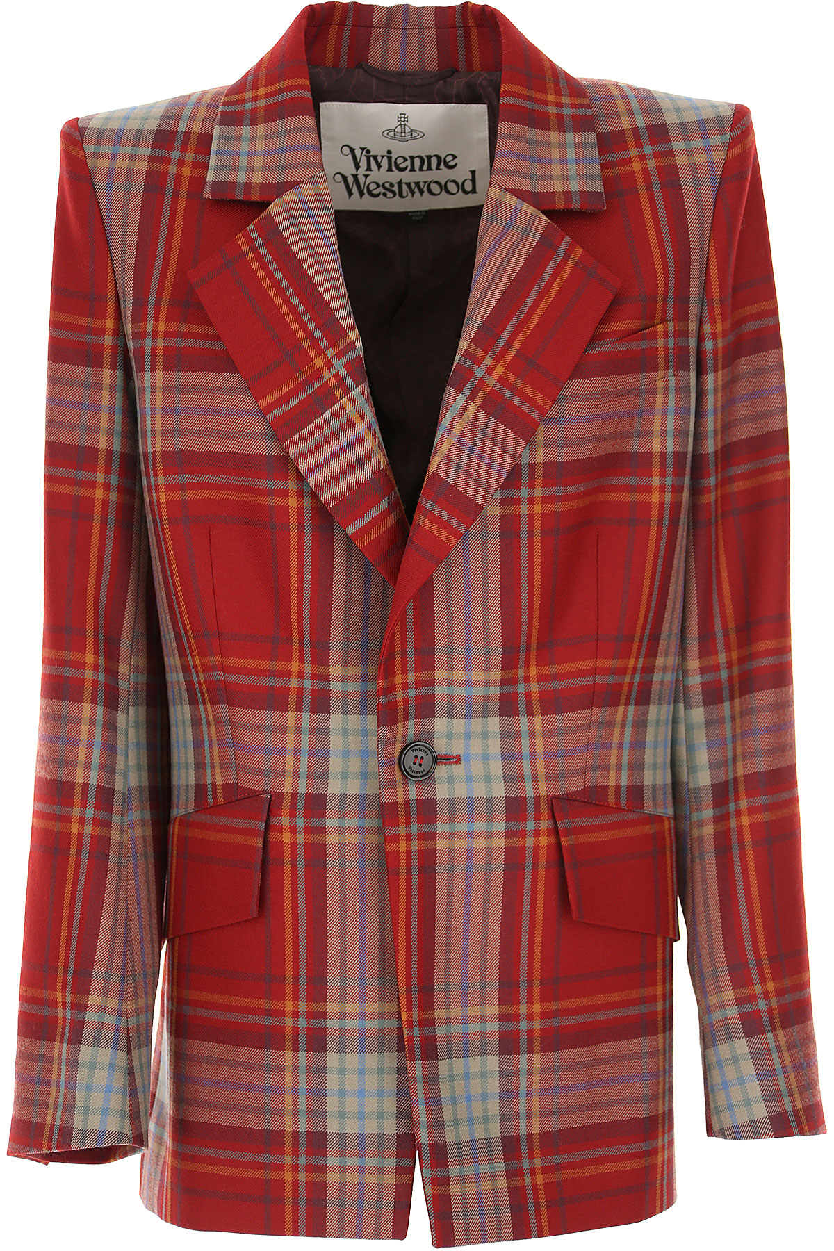 Vivienne Westwood Blazer for Women On Sale, Red, New Wool, 2019, 6 8