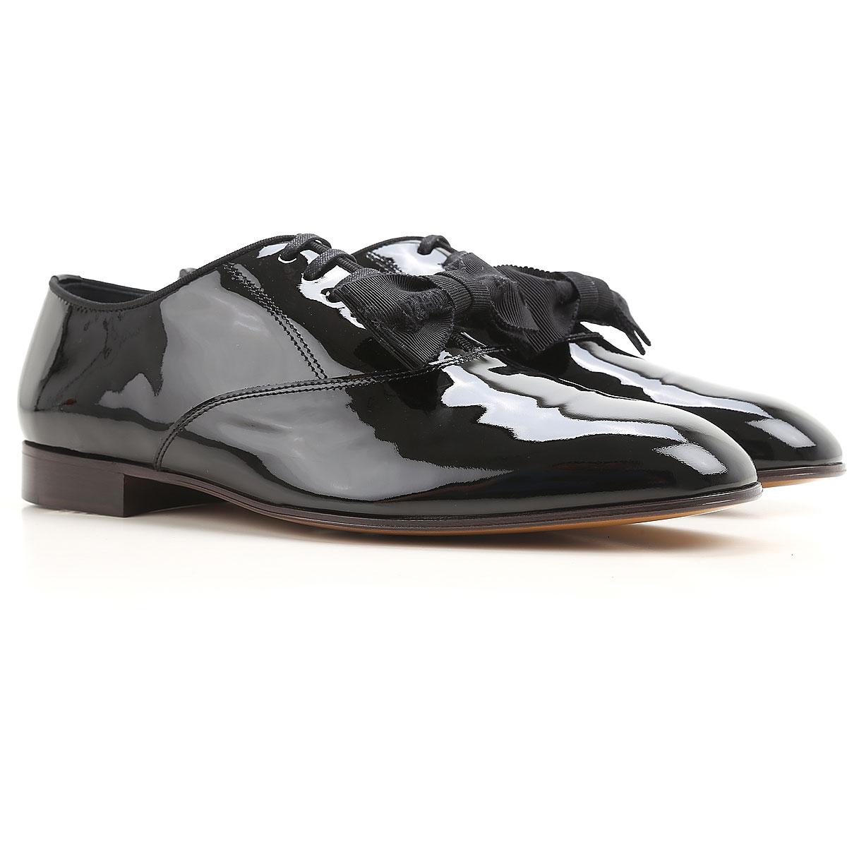 Vivienne Westwood Chaussure à Lacets Homme, Oxfords, Derbies et Richelieu Pas cher en Soldes, Noir, Cuir Verni, 2017, 40 41 42 43
