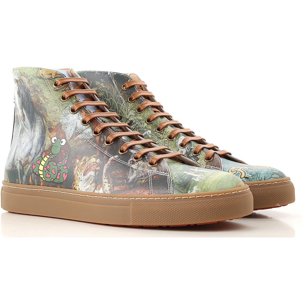 Vivienne Westwood Sneaker Homme Pas cher en Soldes, Multicolore, Cuir, 2017, 40 41 43